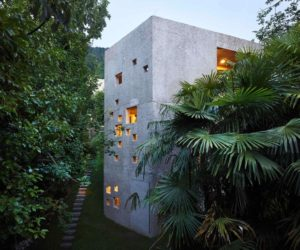 Family Home Resembles A Concrete Tower In The Forest