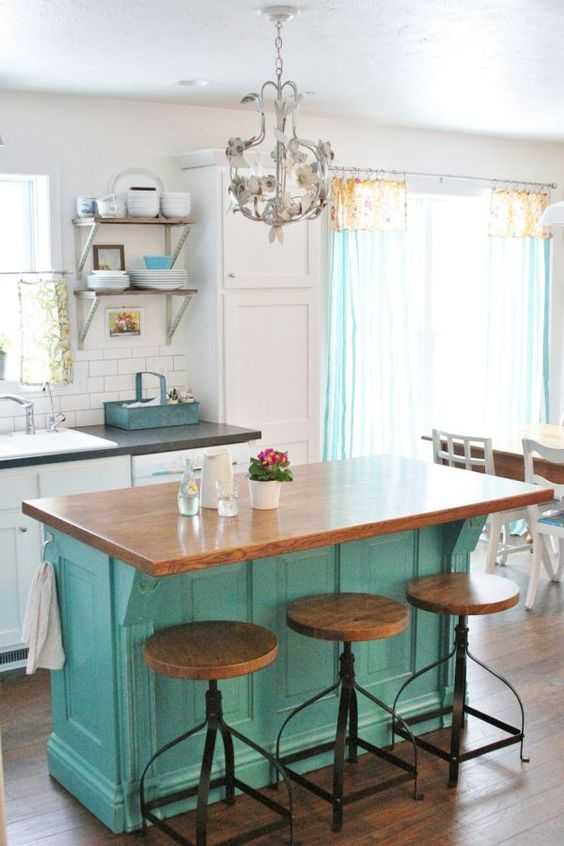 Cottage kitchen island