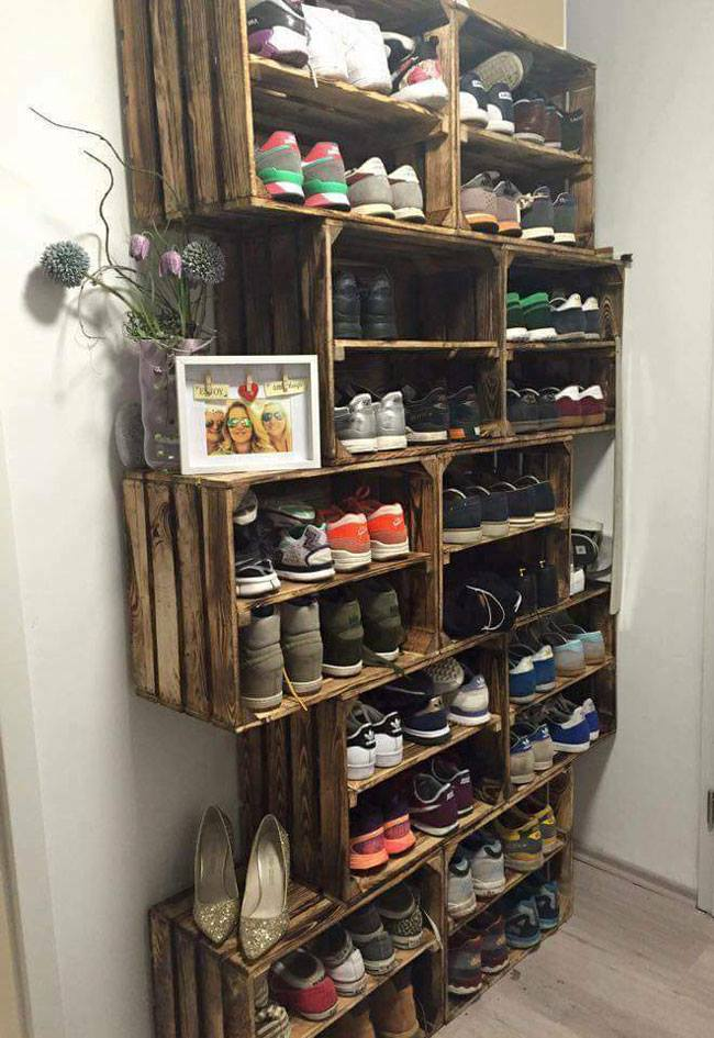 Marvelous Crate Shoe Storage