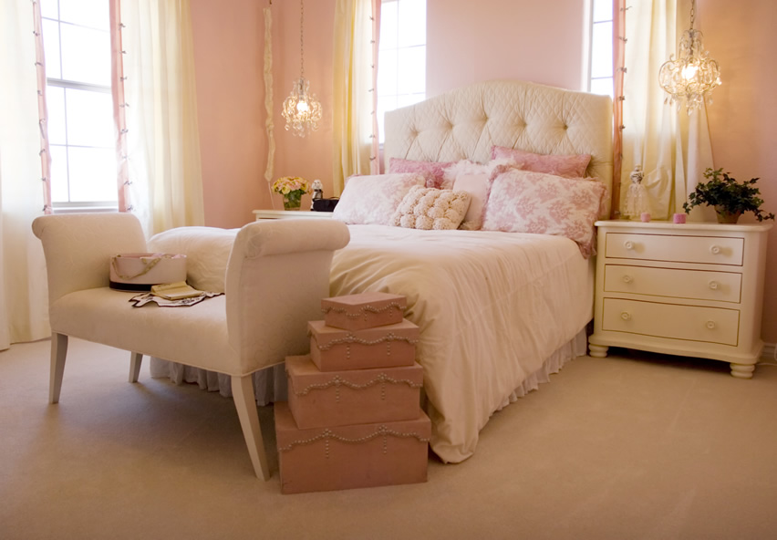 Cream bedroom texture design