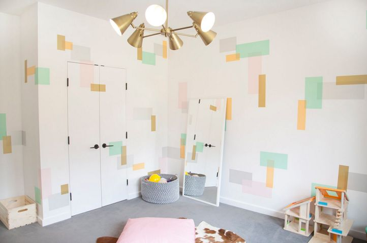 Create geometric deigns with washi tape