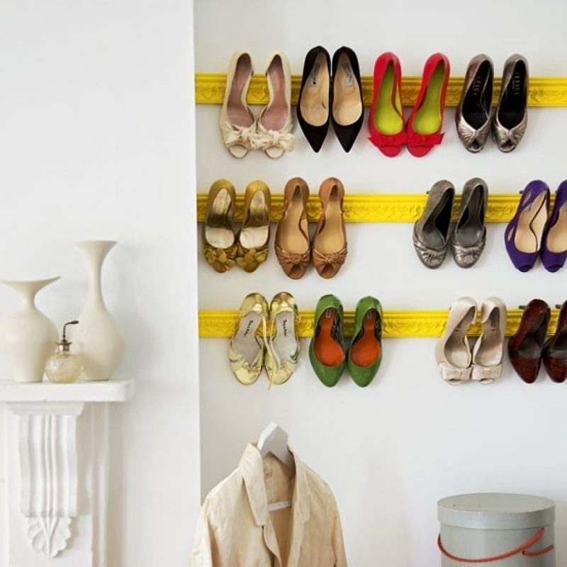 Crown Molding Shoe Storage