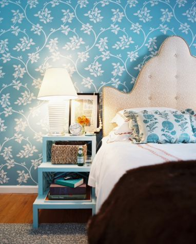 Custom headboard design with a feminine touch