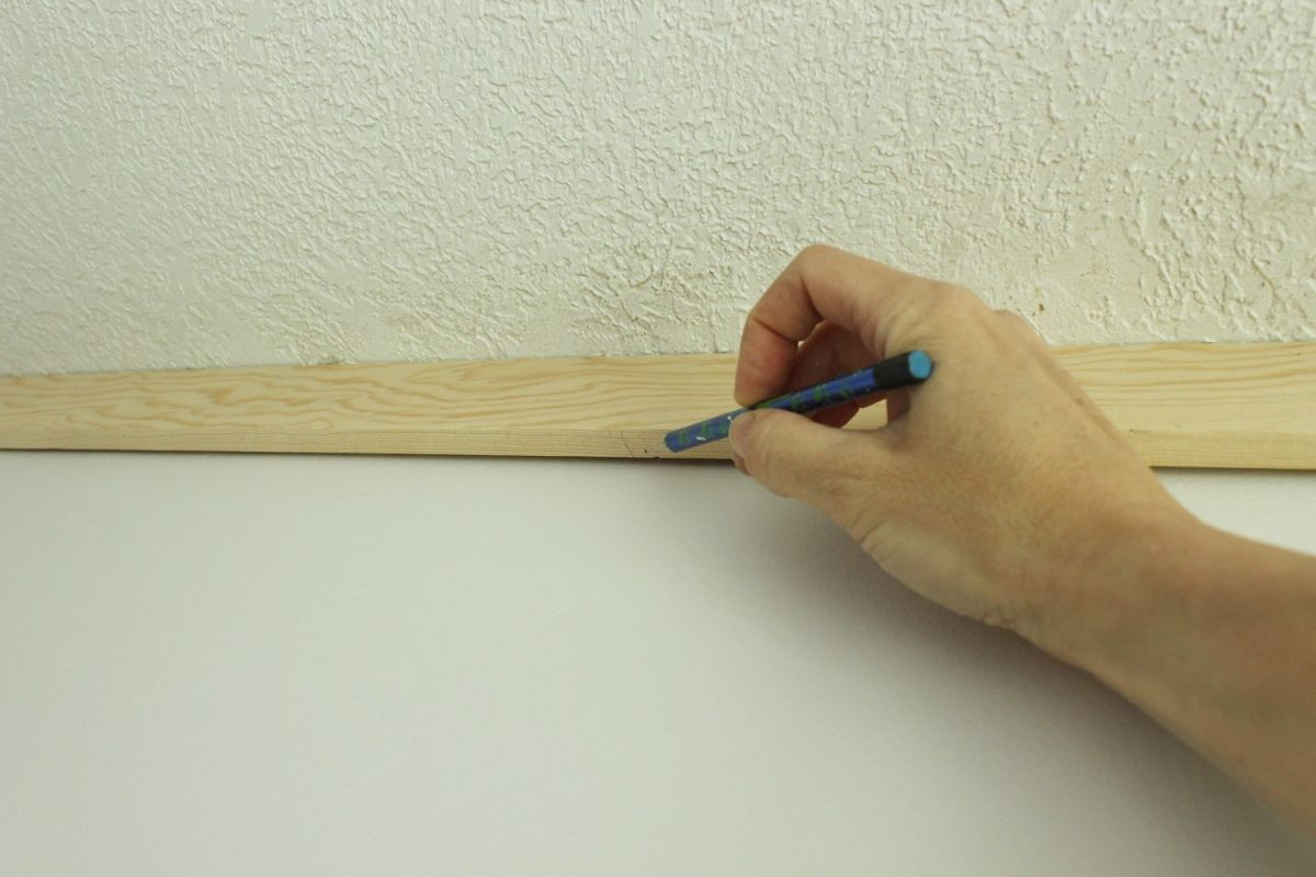 DIY Board and Batten - hold the board