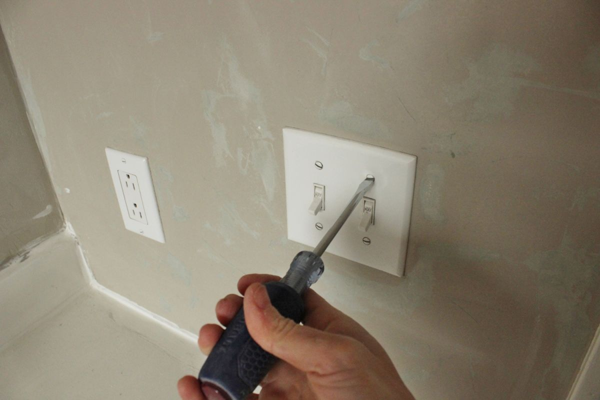 DIY Board and Batten - remove any outlet cover