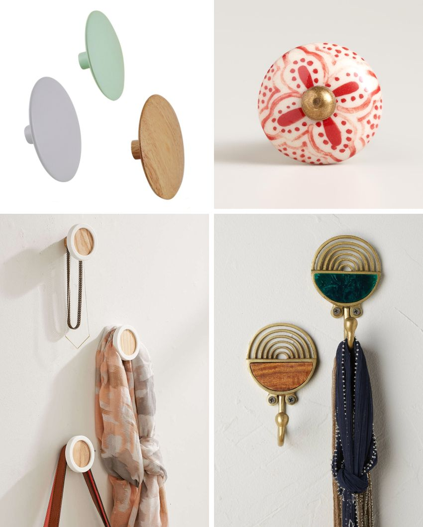 DIY Coat Rack -knobs mix