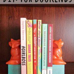 DIY Fox Bookends