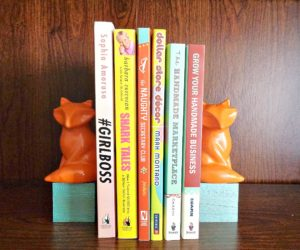 DIY Fox Bookends