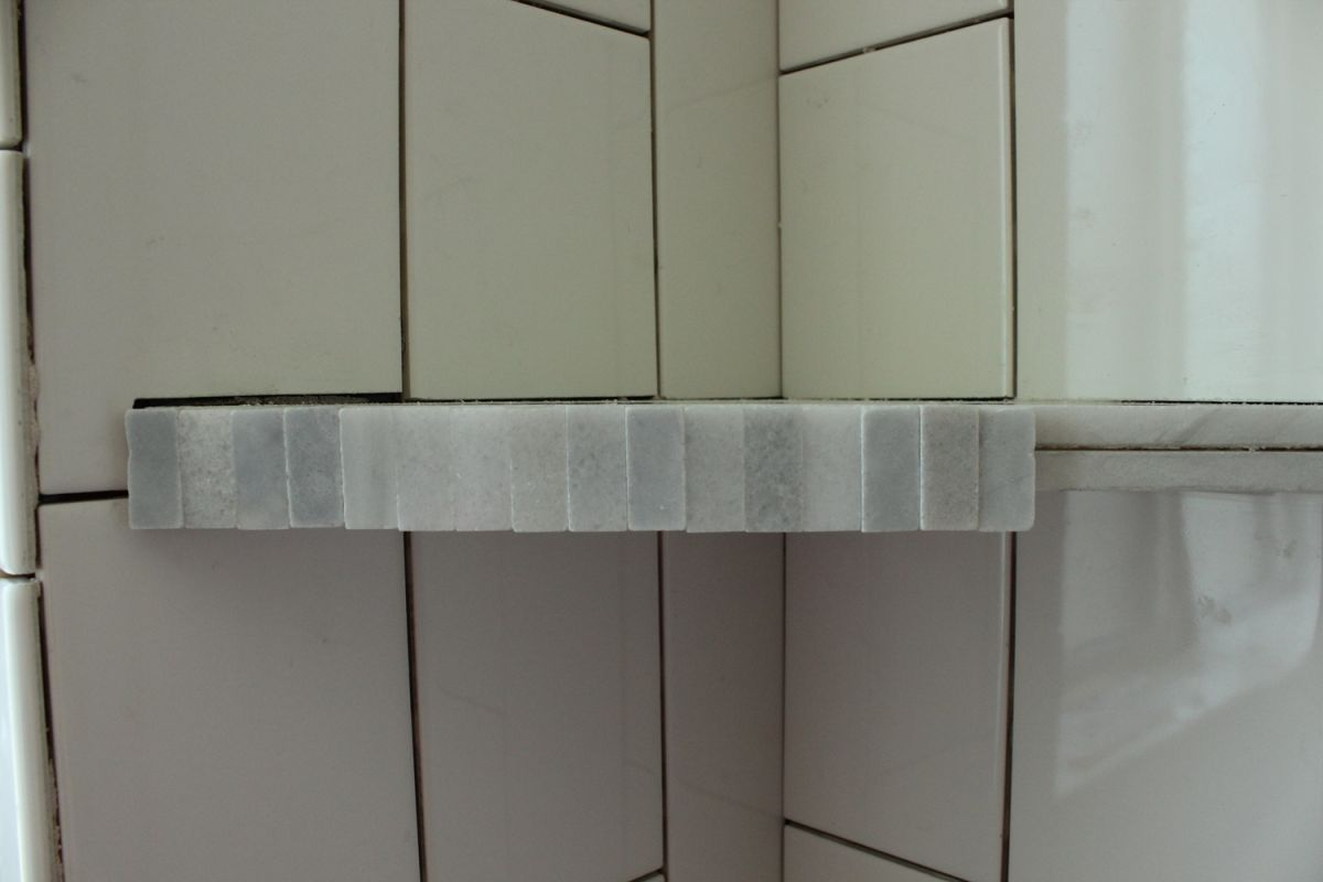 How To Install A Tile Shower Corner Shelf
