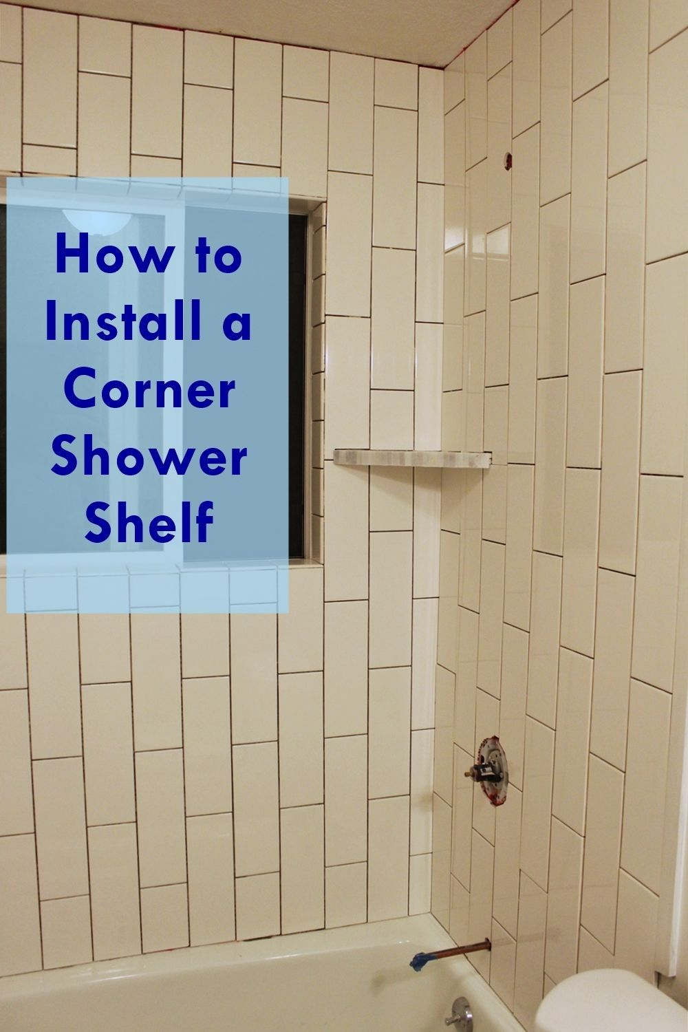 How to install a tile shower corner shelf - How to install ceramic tile on wall ...