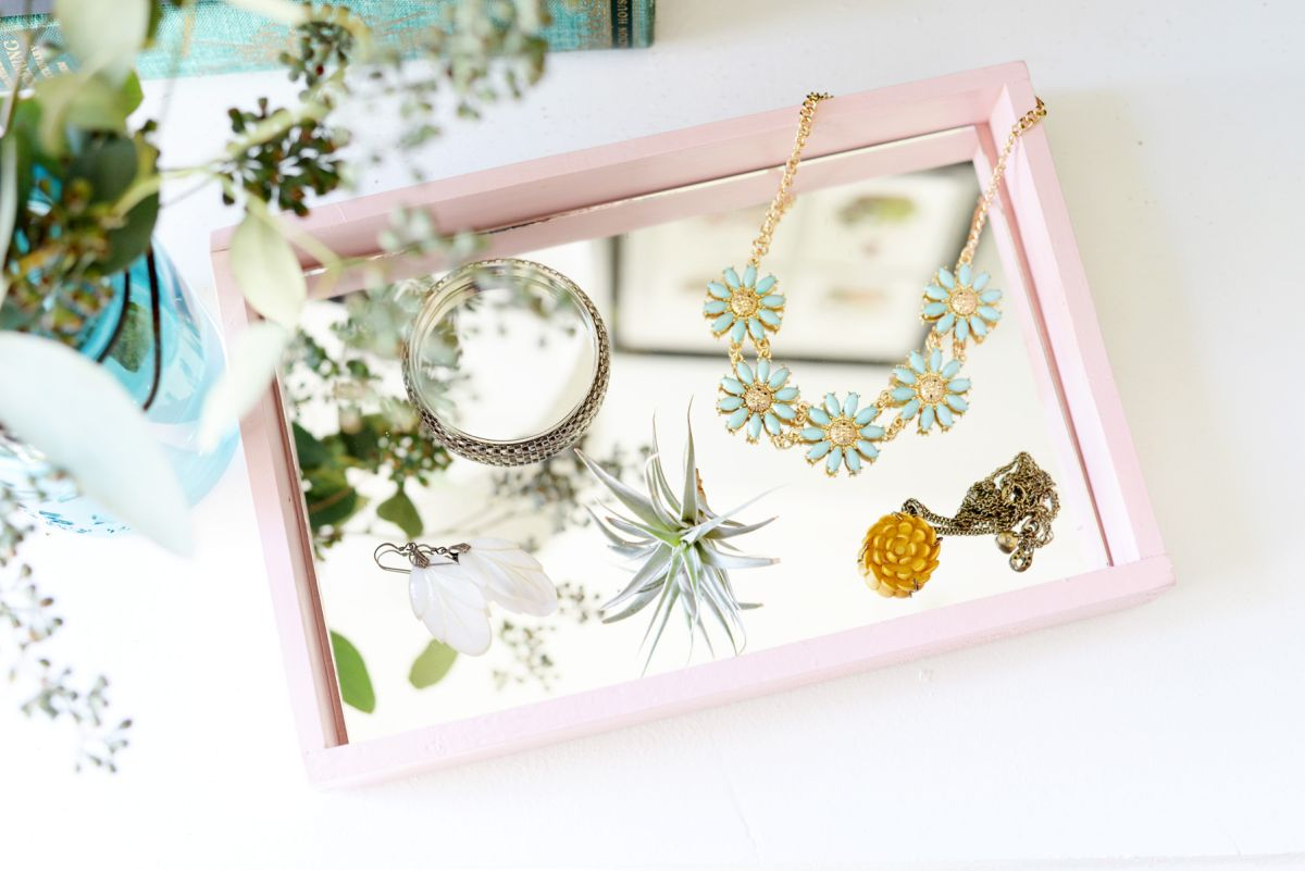DIY Mirrored Tray Project