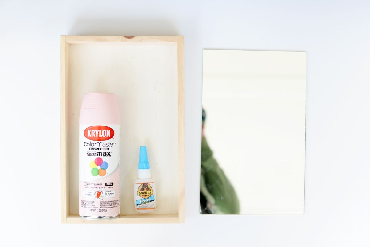 DIY Mirrored Tray Supplies
