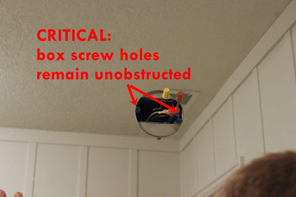 DIY Prof Install Mirror- box screw