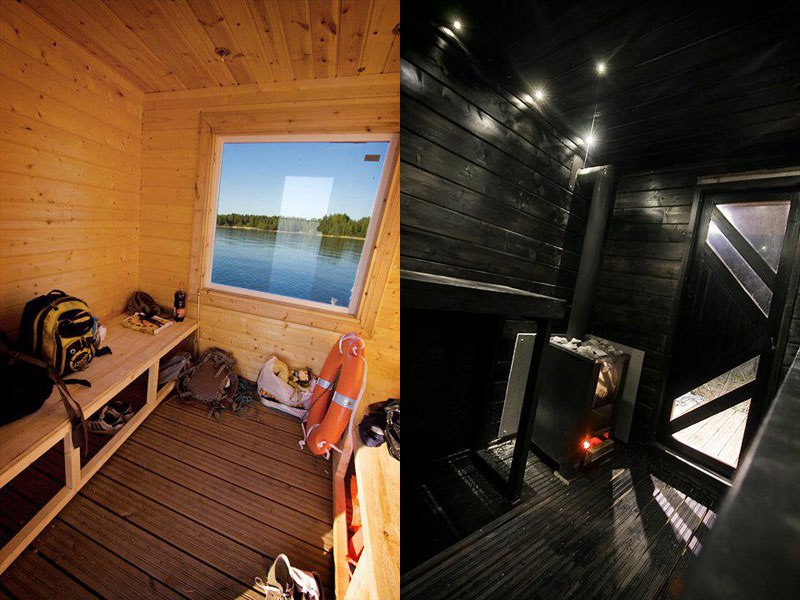 DIY Sauna Raft Interior