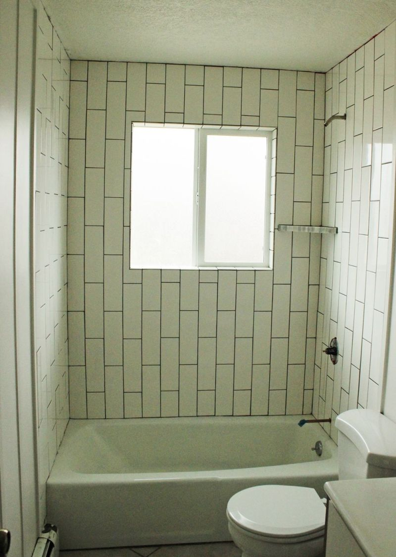 Diy bathroom tile - Diy Tile Shower Tub Surround Project