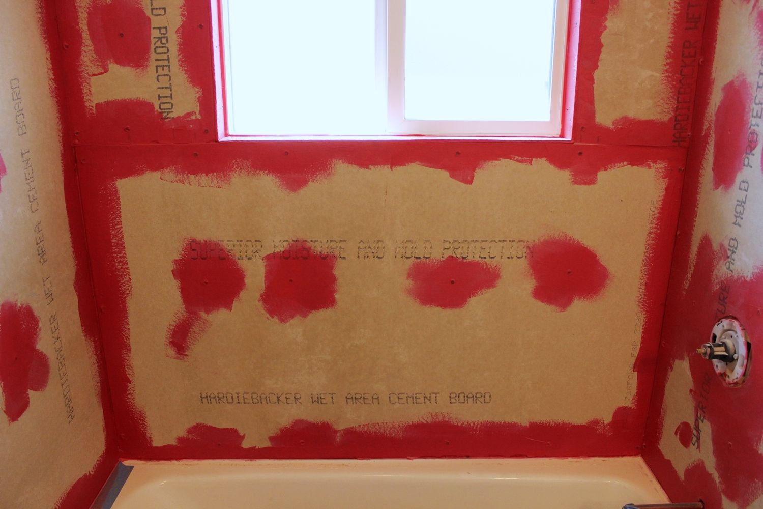 DIY Tile Shower Tub Surround - prepare the wall