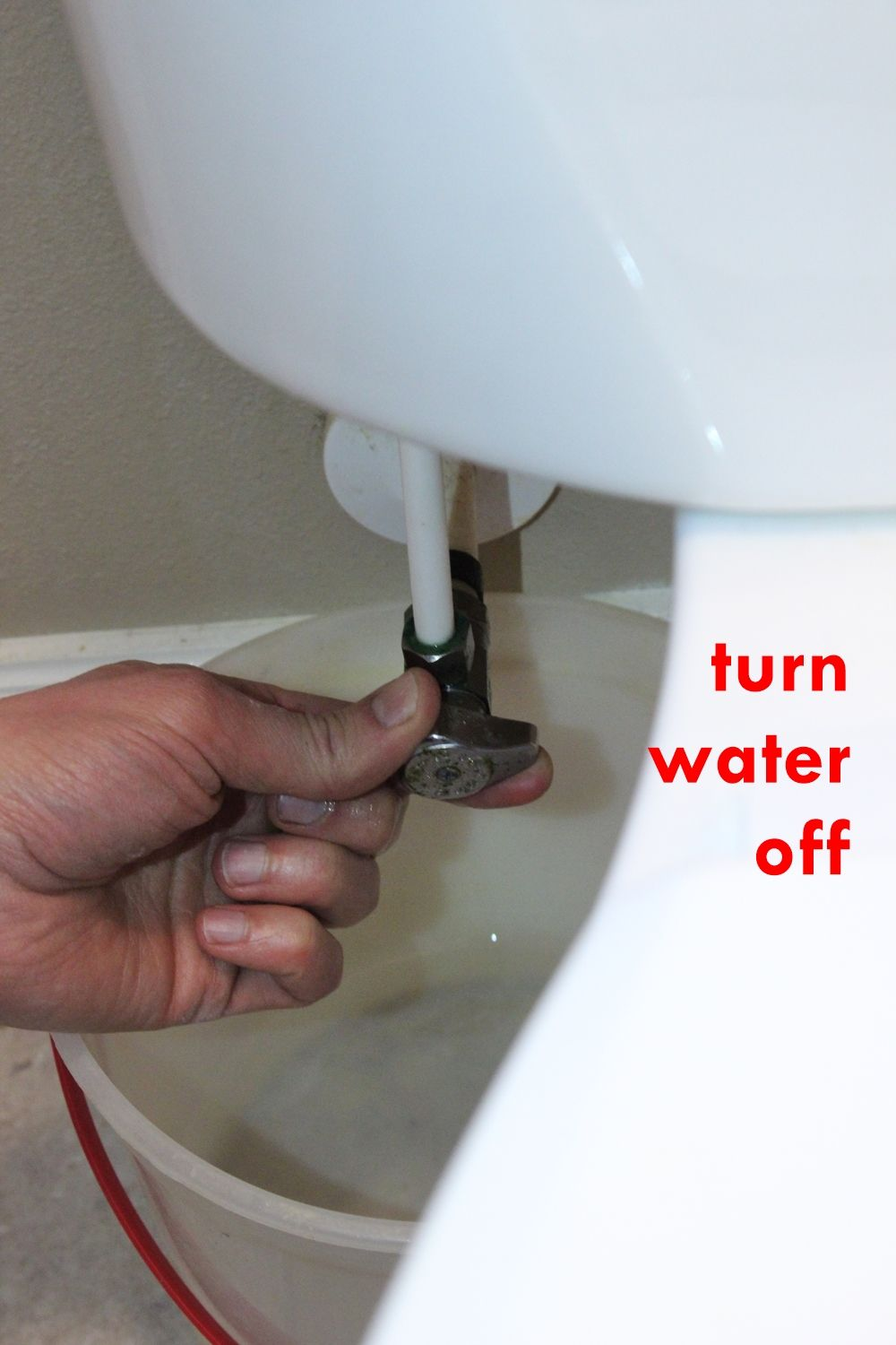 DIY Toilet Repair - turn water off