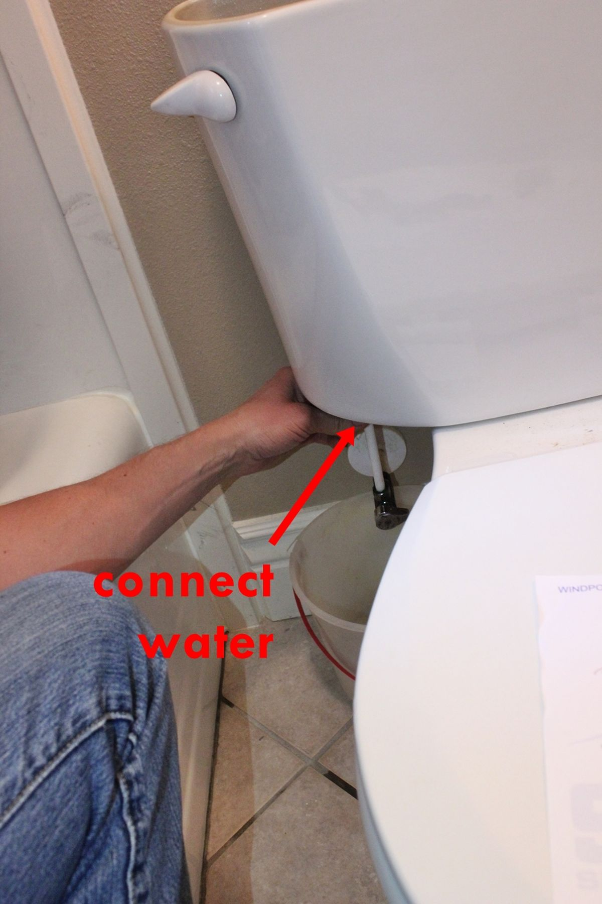 DIY Toilet Repair-water on