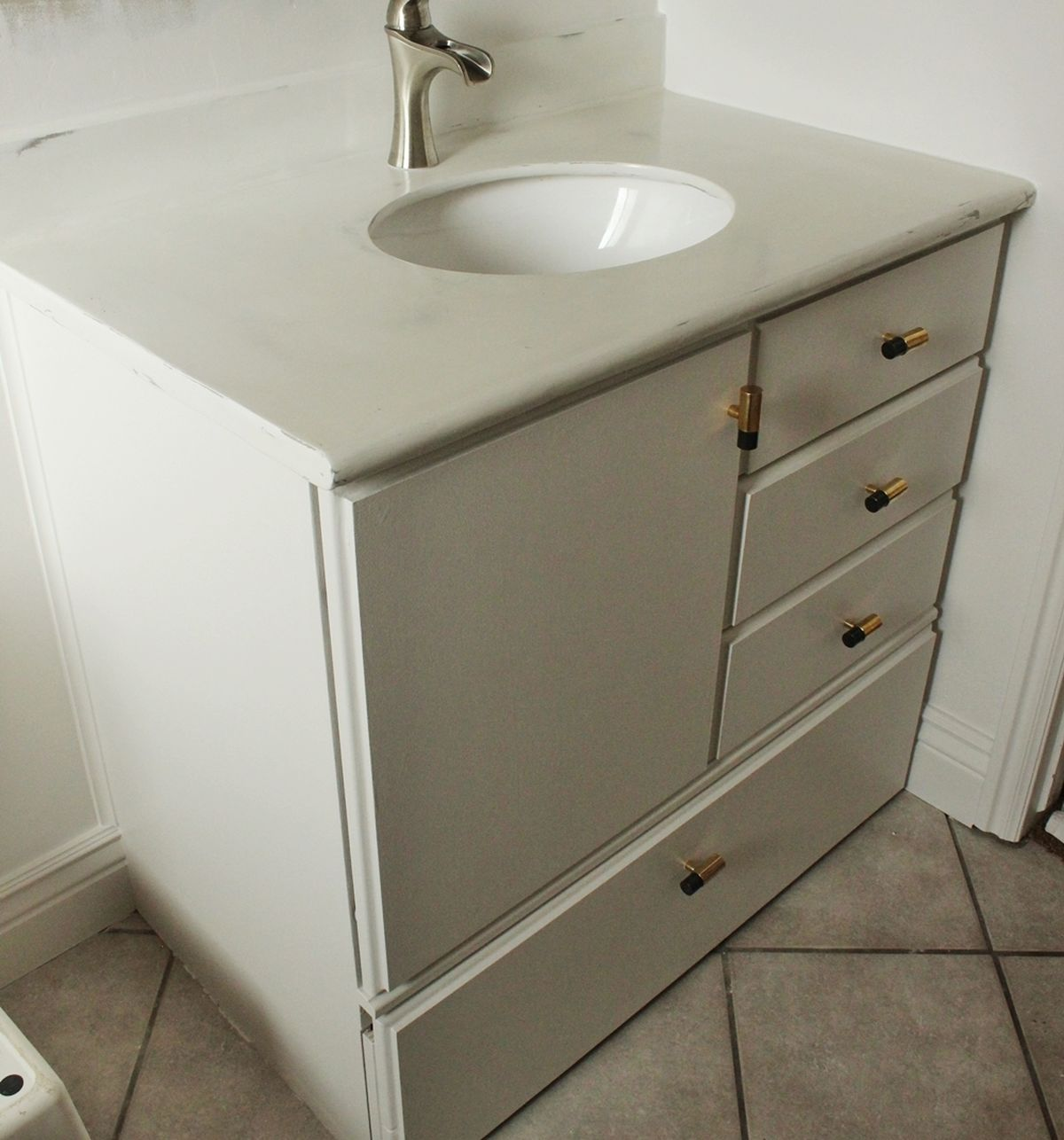 bathroom cabinet diy how to turn a builder grade vanity into a custom and chic 11020