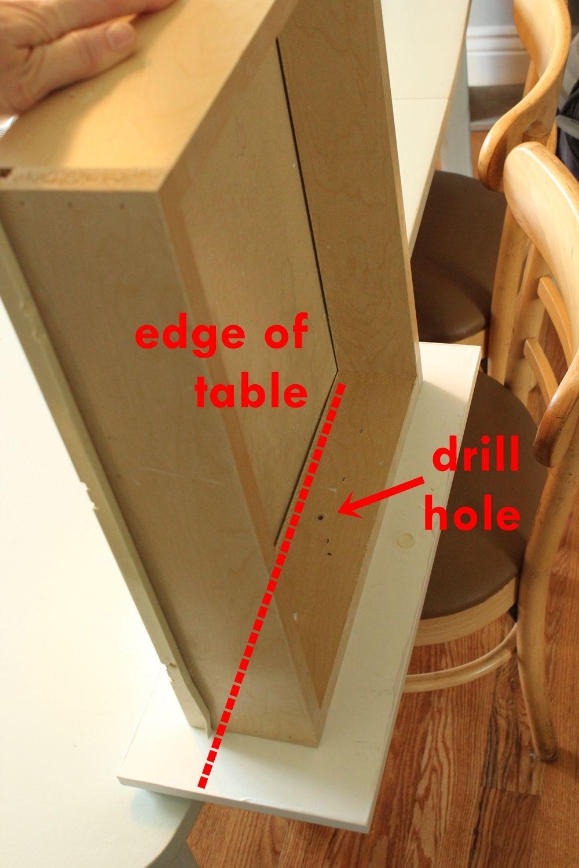 DIY Upgrade Bathroom Vanity- edge of table