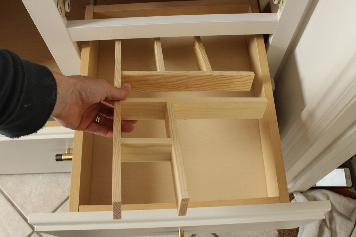 Custom Bathroom Vanity Drawers how to turn a builder-grade vanity into a custom and chic piece