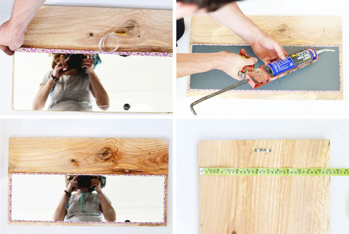 DIY Wood Framed Mirror Intructions