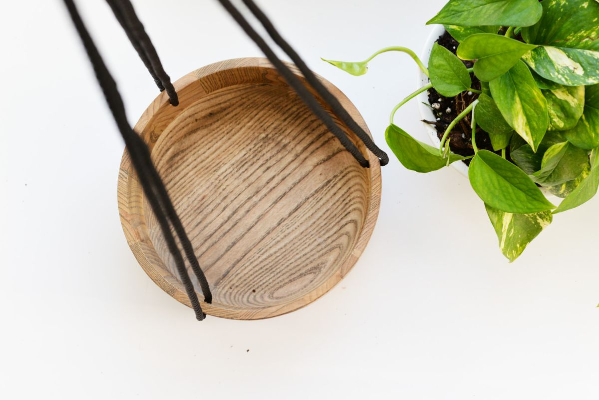 DIY Wooden Hanging Planter Bowl