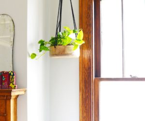 DIY Wooden Hanging Planter