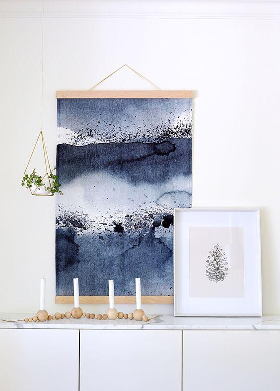 DIY fabric wall hanging