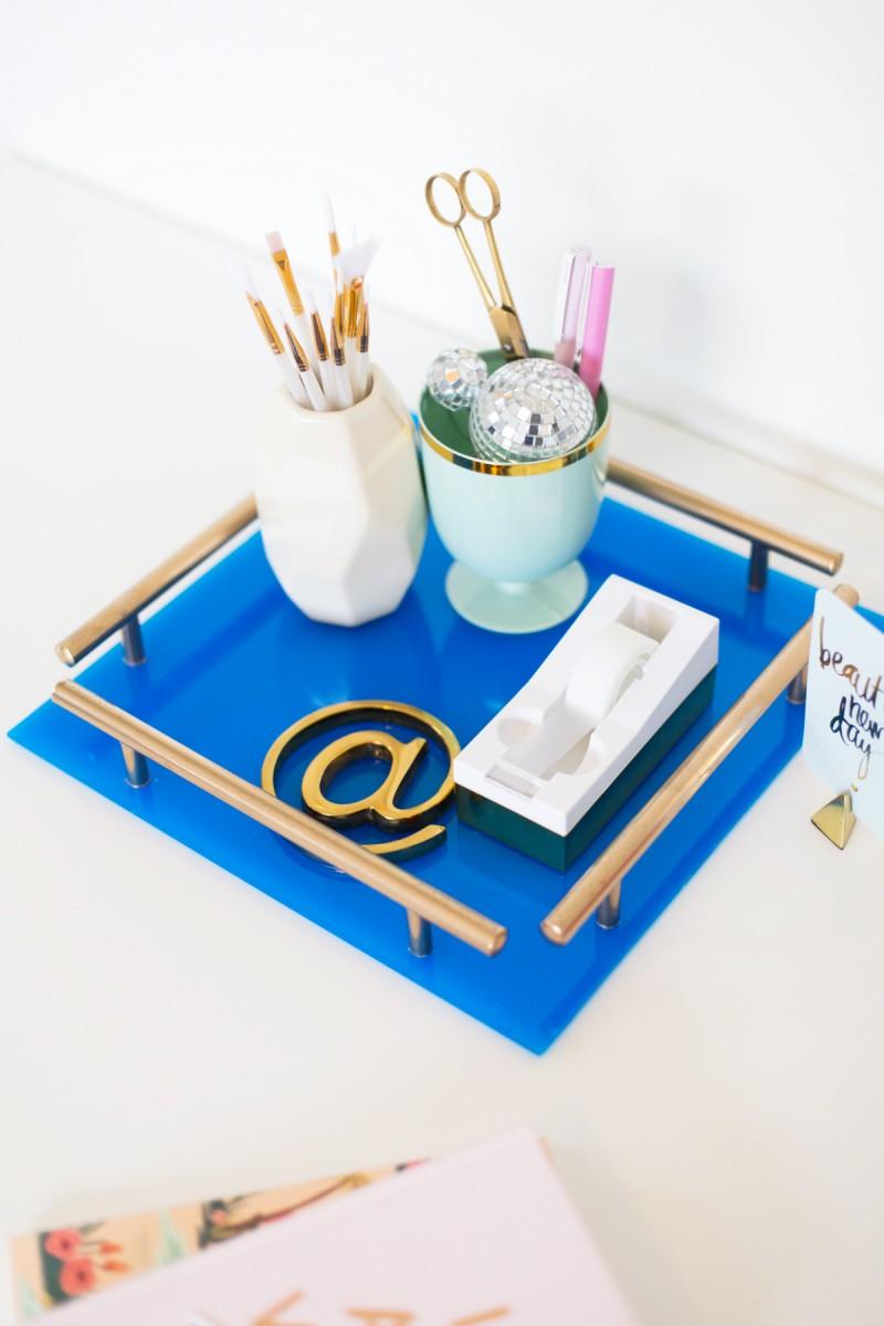 DIY gold bars acrylic tray