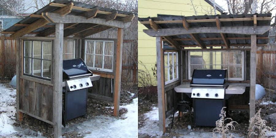 DIY grill shed
