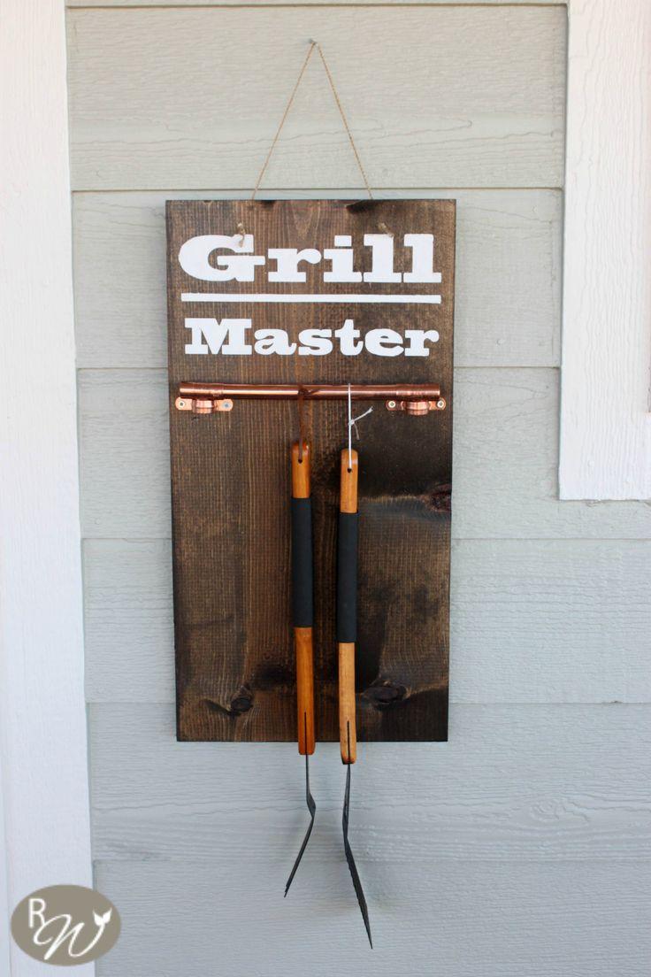 DIY grill tool hanger