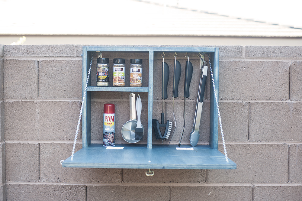 DIY grill tools station