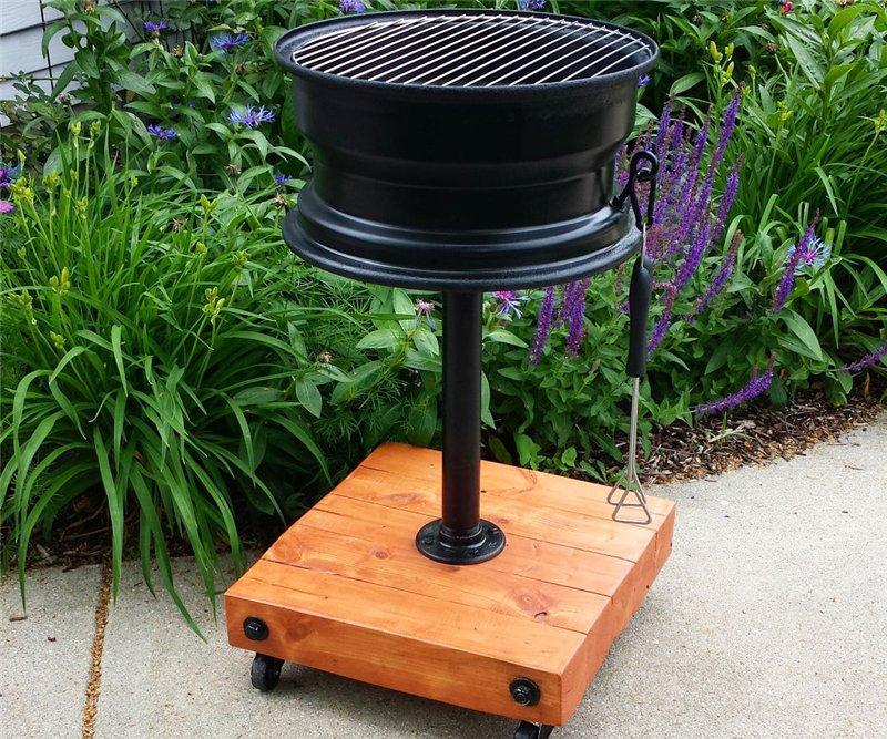 DIY rolling grill