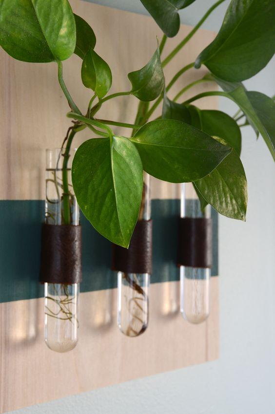 DIY tube vase hanging