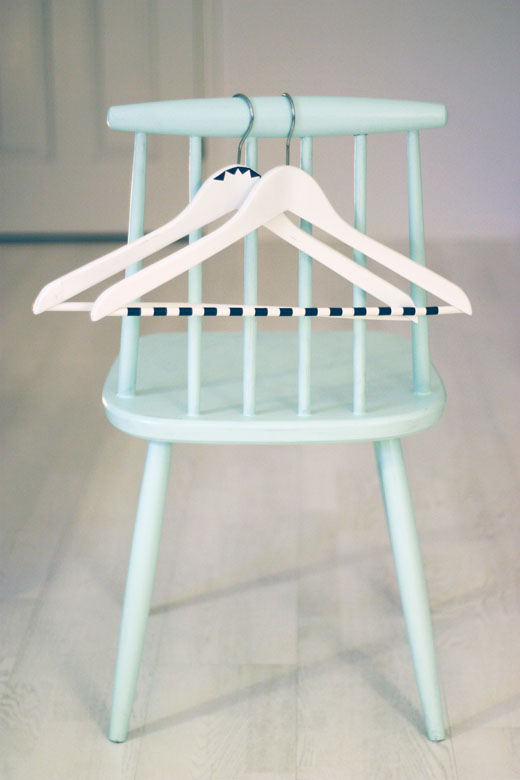 Decorate hangers with tape