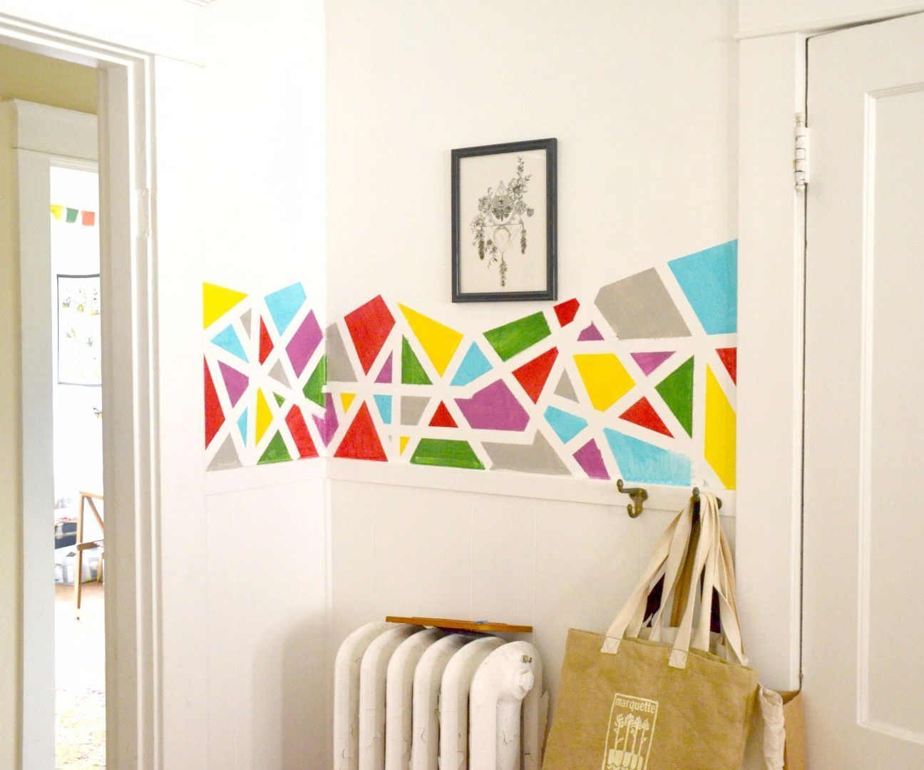 Entryway geometric pattern