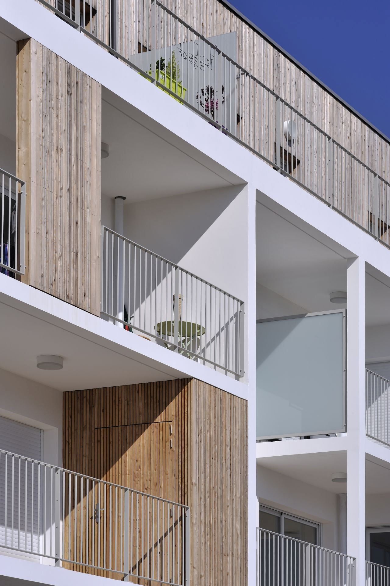 Stylish balconies become integral parts of their building for Balcony gallery