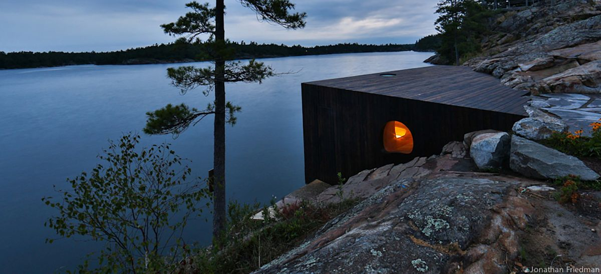 Exterior Grotto Sauna by Partisans