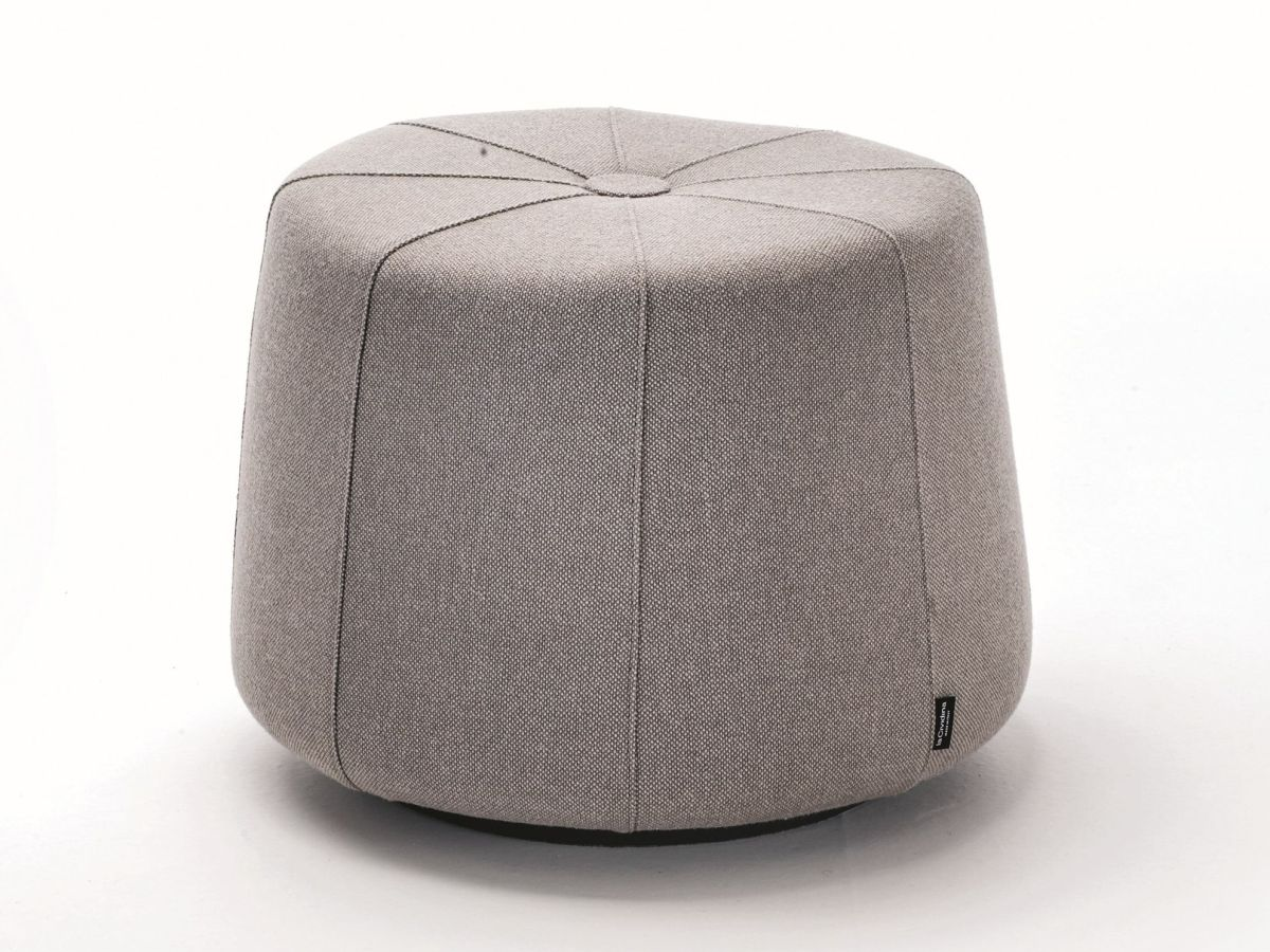 Fabric pouf with fire retardant padding