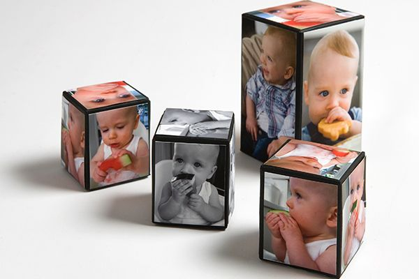 Family photo cubes