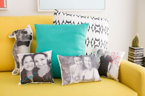 Family photo pillows