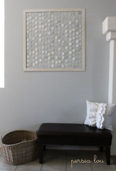 Faux shell wall hanging