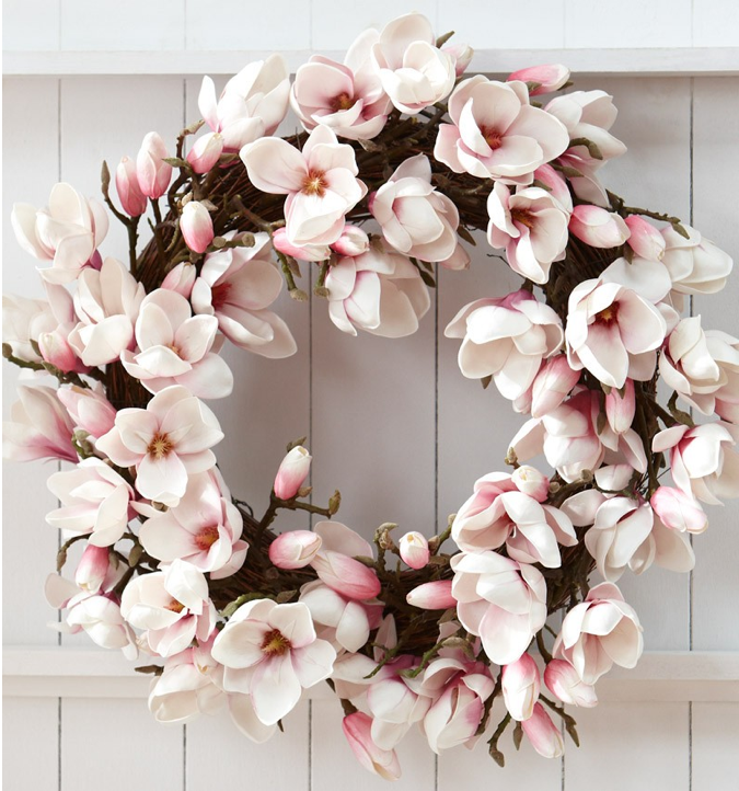 Floral mothers day wreath