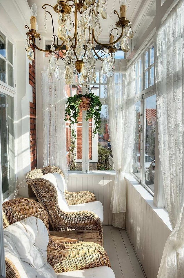 Front porch chandelier