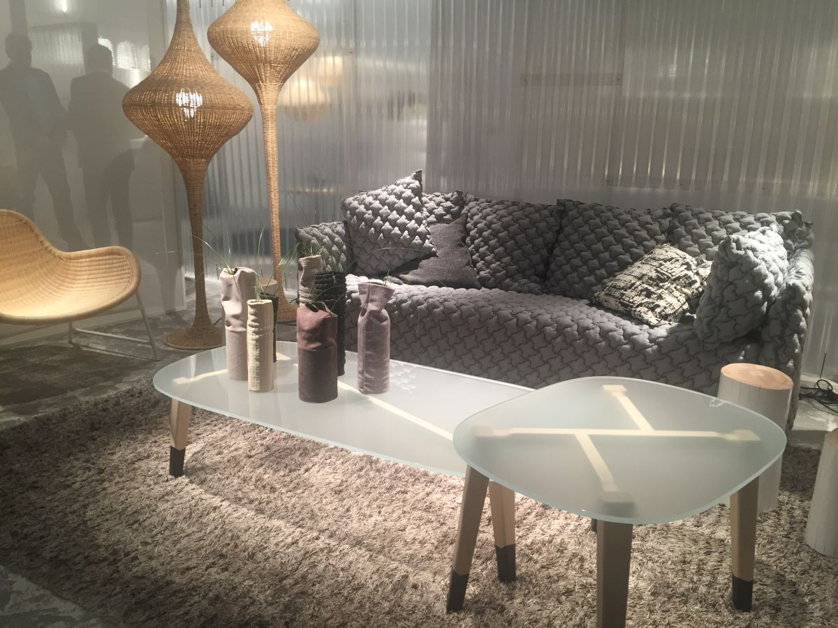 Frosted glass coffee tables
