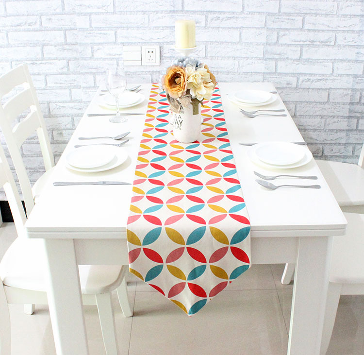 Geometric Colorful Table Runners