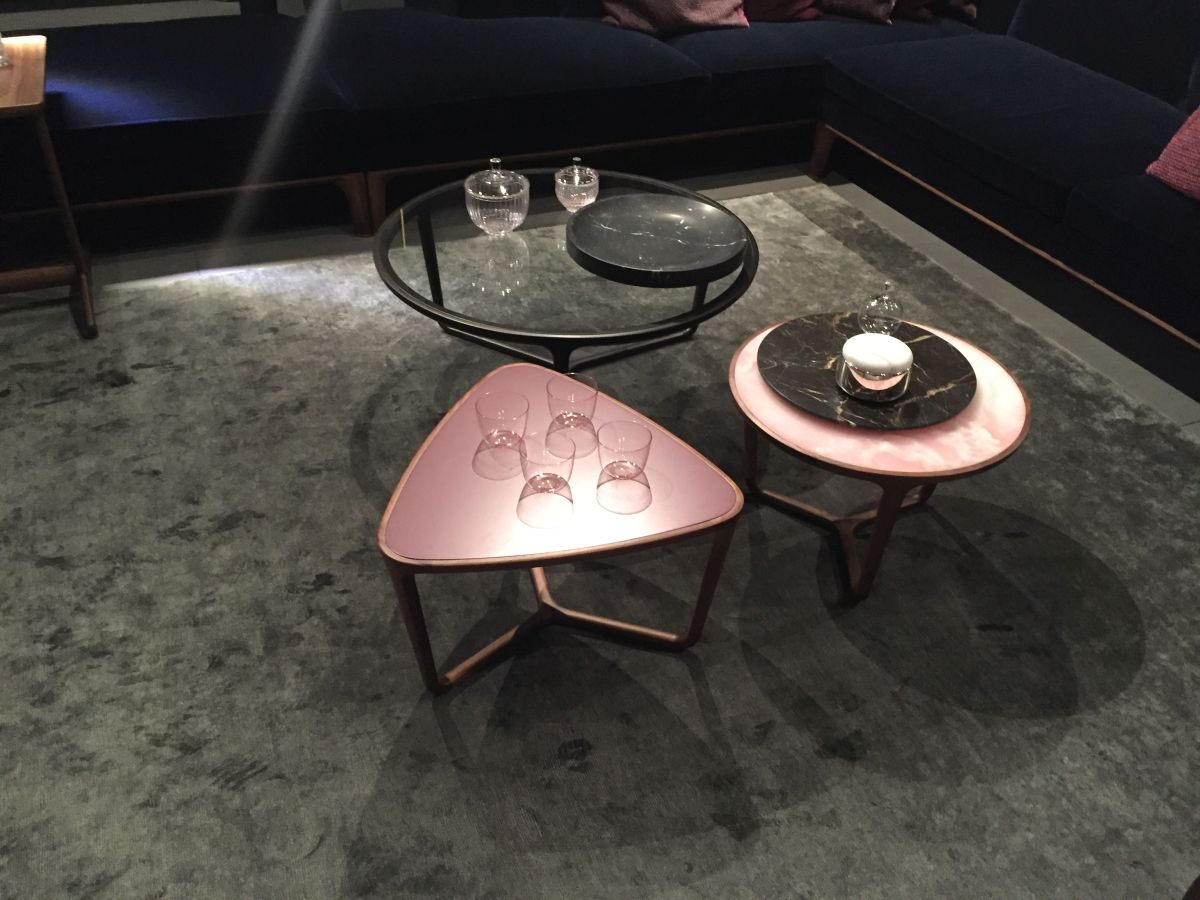 Geometric coffee tables- round-triangle-square