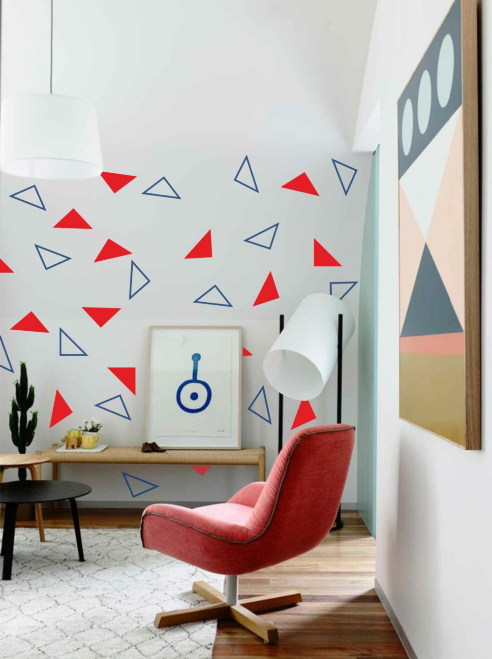 Geometric wallpaper design