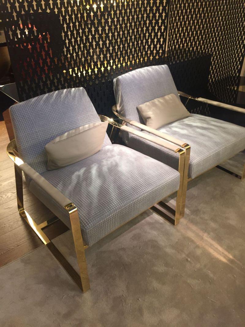 Gold frame armchair